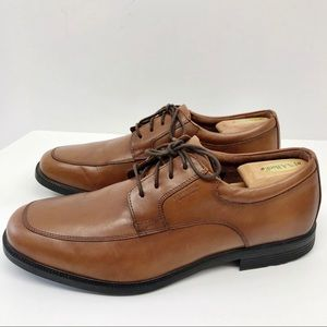 Rockport Hydro Shield Brown Leather Oxfords Sz 14W